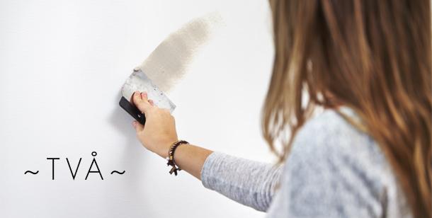 Spackla vägg hål